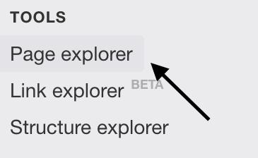 SEO Tool ahrefs - Page explorer